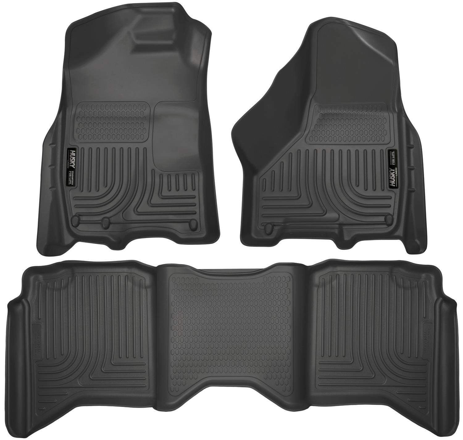 Husky WeatherBeater Floor Liners 99001   Free Shipping On Orders Over $99  At Summit Racing