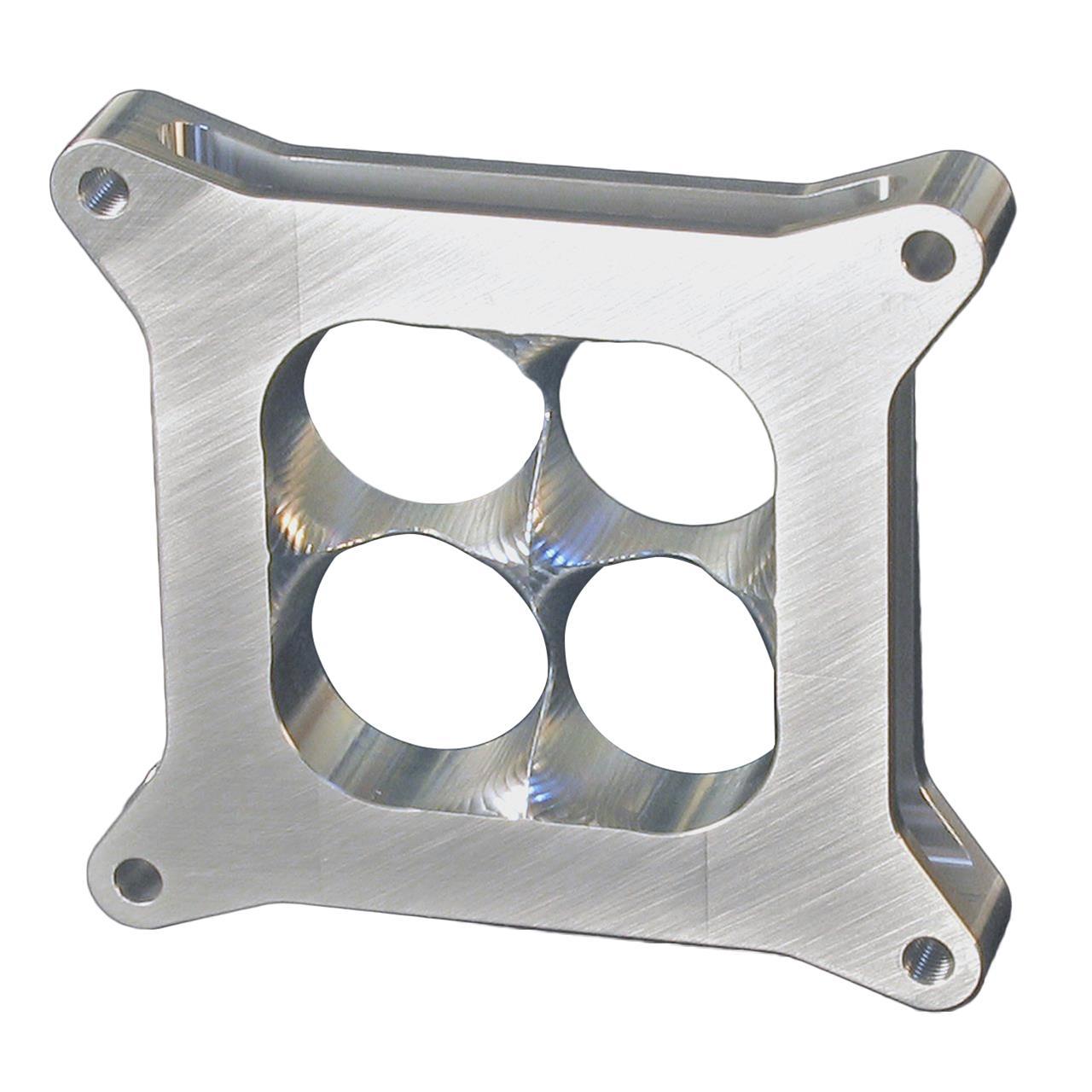 """HVH Super Sucker CNC Carb Spacer 1/"""" Aluminum 4 Barrel Square Bore SS4150-1AL"""