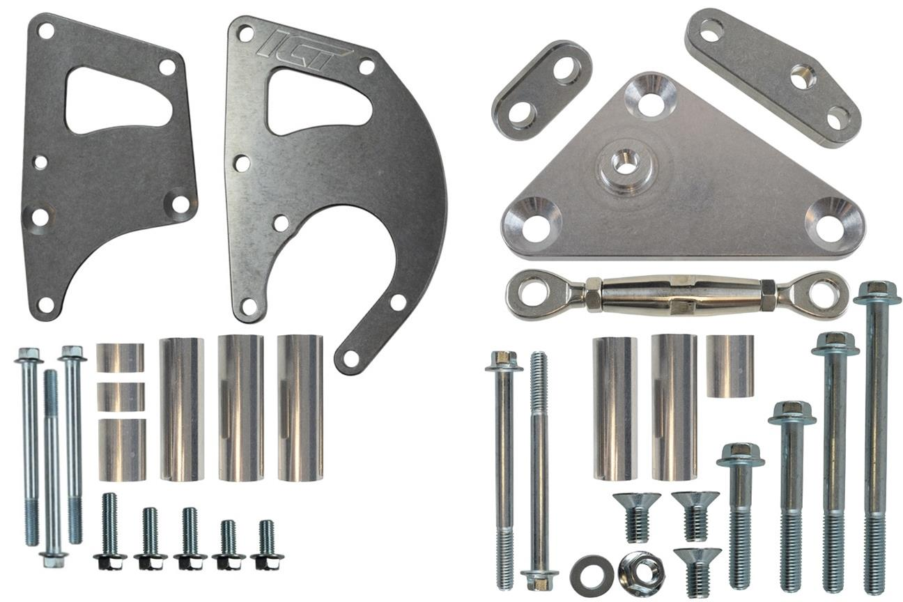 LS Truck Alternator /& Power Steering Pump Relocation Bracket Kit Accessory Kit LSX Saginaw 551396-3