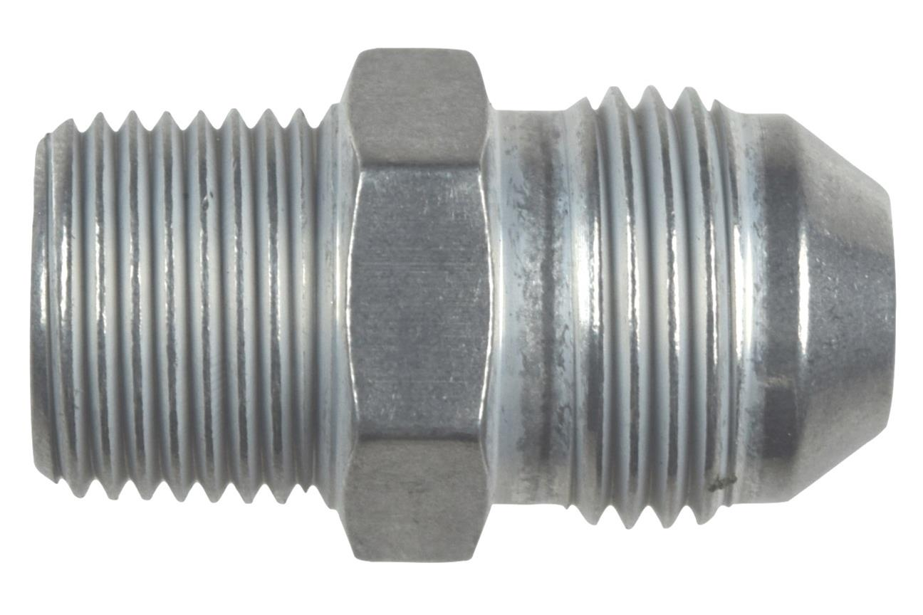Straight 10AN Flare Male to 1//2NPT Pipe Adapter Fitting 10 AN Bare Aluminum AN816-10-08A
