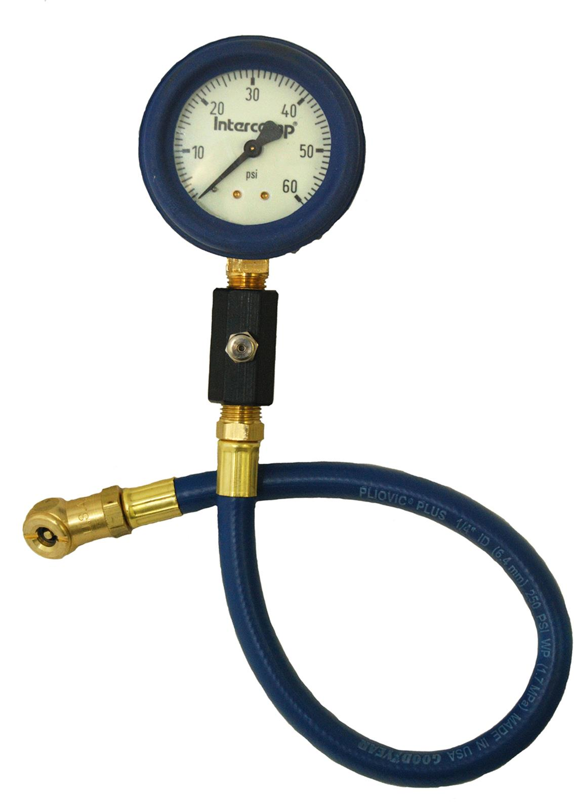 360060 4 60 PSI Glow Air Pressure Gauge Intercomp