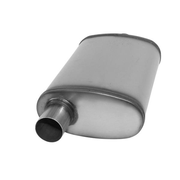 """Cherry Bomb Salute Stainless Steel Muffler SA2258 2.5/"""" Center In 2.25/"""" Dual Out"""