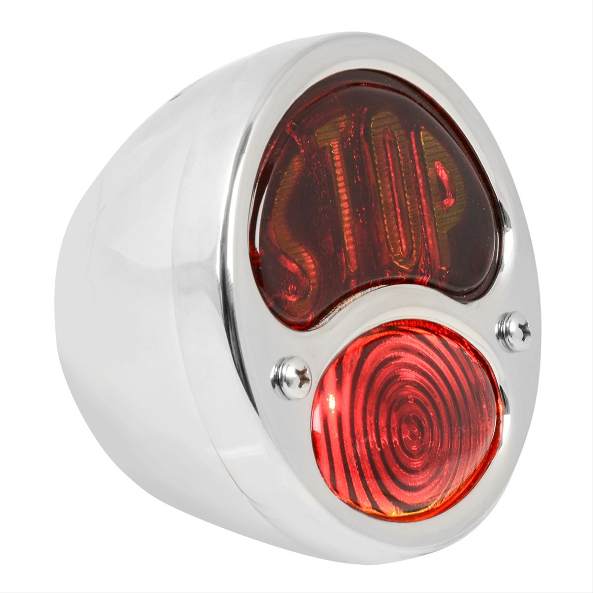 """FORD MODEL A Tail Lamp Lens Red and Amber /""""STOP/"""" 1928-31"""