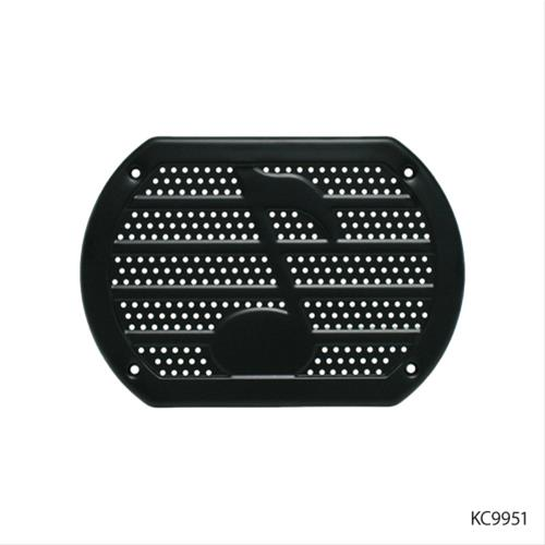 1 Pack KNS Accessories KC9951 Vintage Speaker Cover with Music Note Design for 6x9 Black Metal