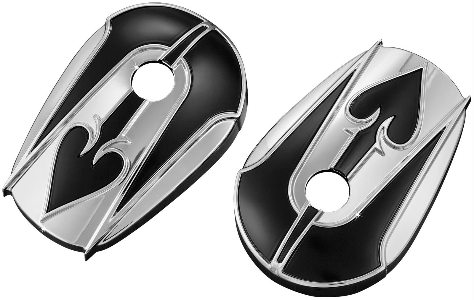 Kuryakyn ace of spades mirror accent covers 1755 free for Mirror spades