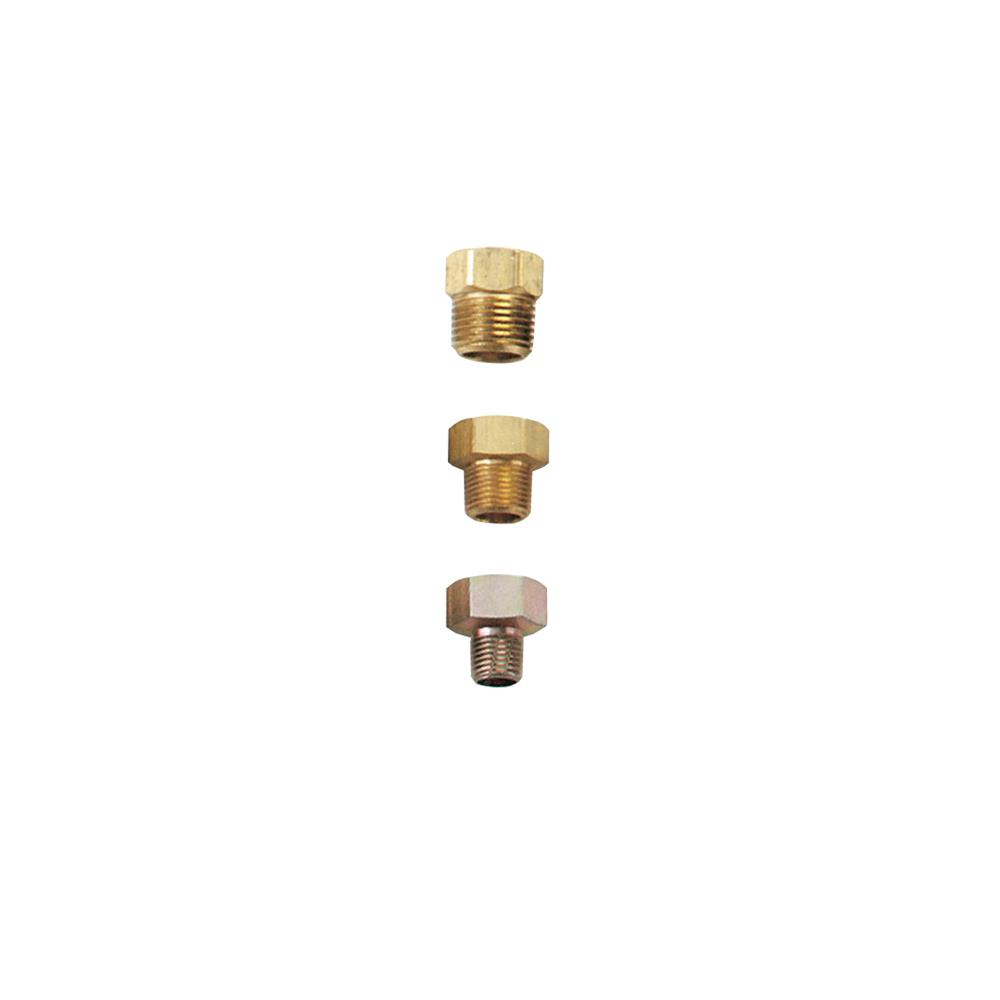 """Autometer 2264 Temp Adapter Male 1//2/"""" NPT to Female 5//8/"""" Brass Natural"""