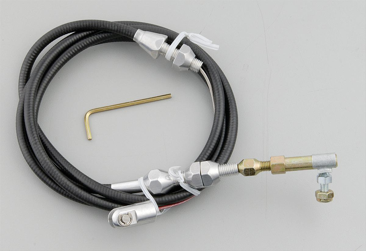 Throttle Cable Ends : Lokar tc u throttle cable black quot long universal