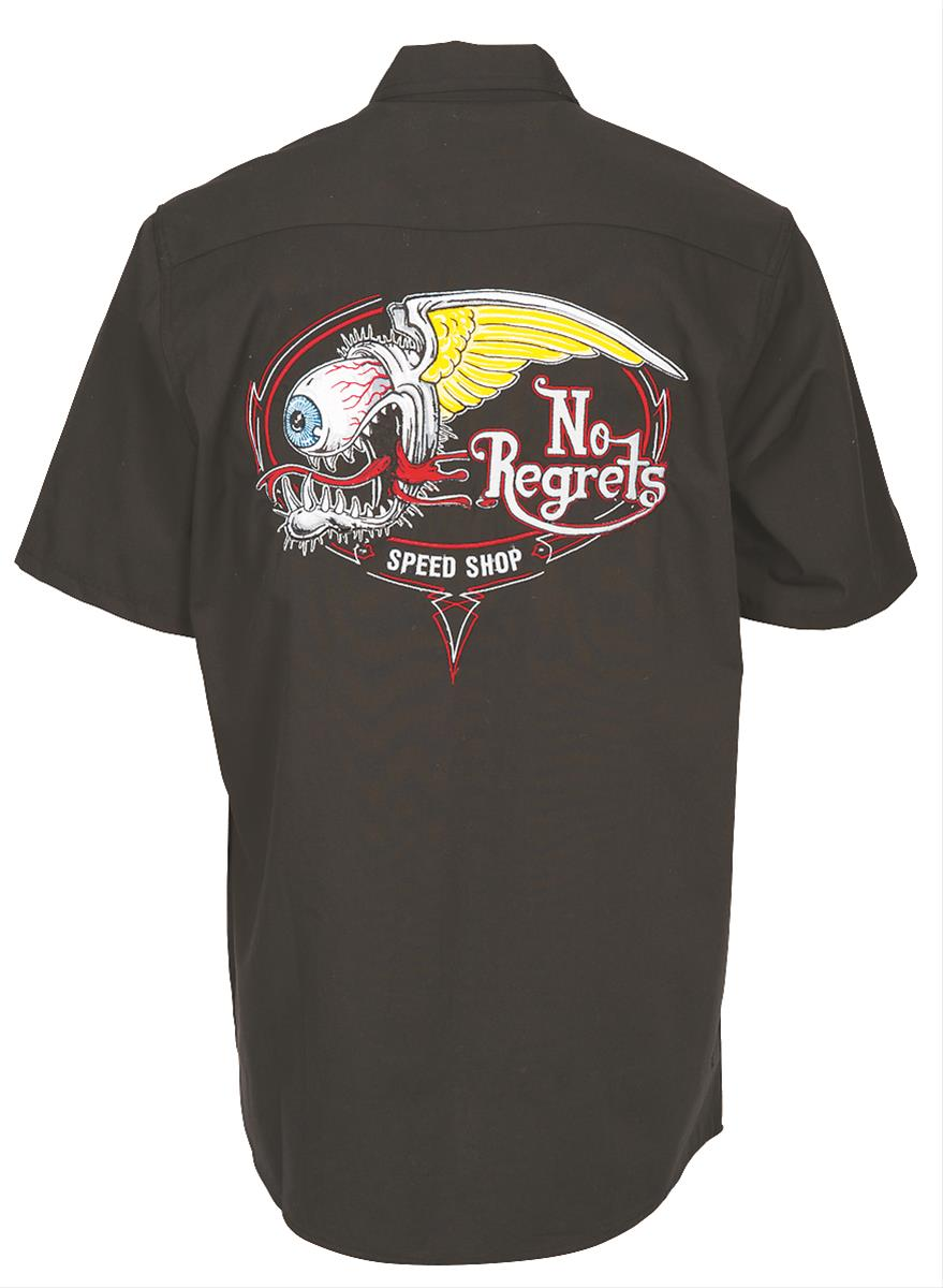 Lethal threat no regrets embroidered work shirts ghh