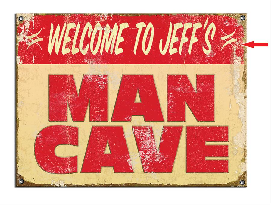 Personalized Man Cave Signs Free Shipping : Personalized man cave metal sign m free shipping