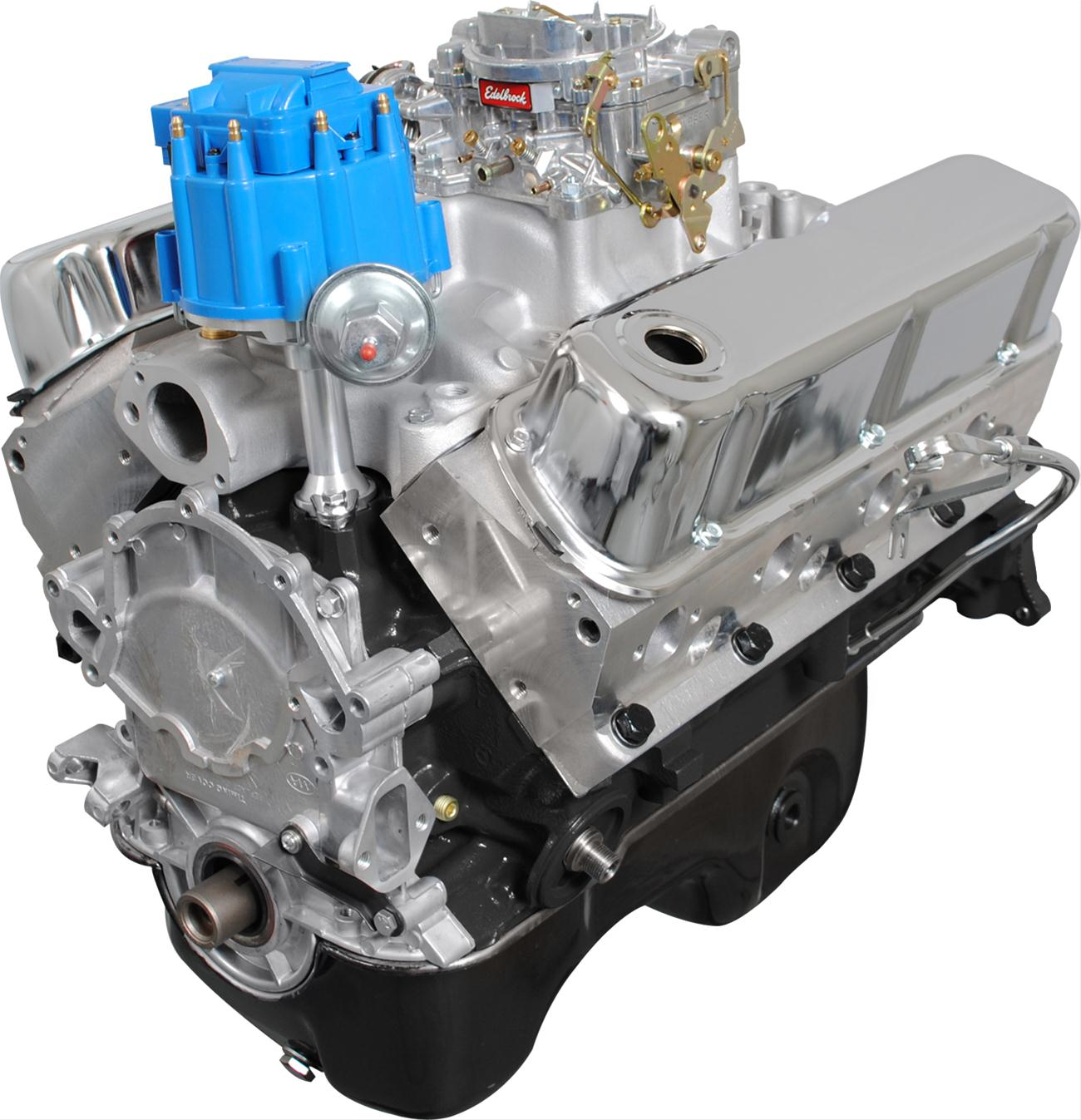 BluePrint Engines Ford 331 Stroker 375 HP Value Power Carbureted Long Block  Crate Engines BP3315CTC