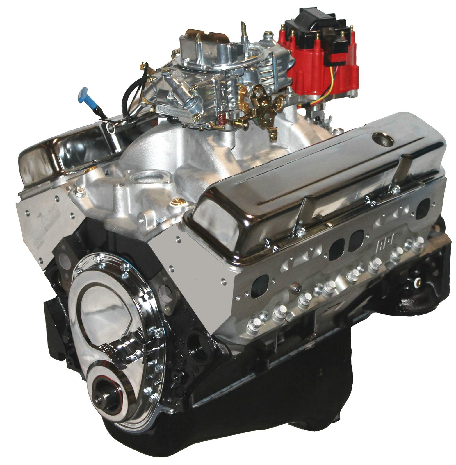 BluePrint Engines GM 383 C.I.D. 430 HP Stroker Base Dressed Long Blocks  w/Aluminum Heads BP38313CTC1 - Free Shipping on Orders Over $99 at Summit  Racing