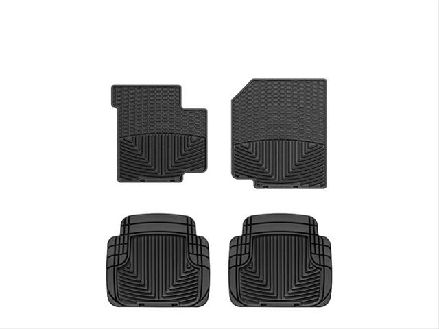4 Pieces Rugged Ridge 12988.09 Black All-Terrain Front and Rear Floor Liner Kit