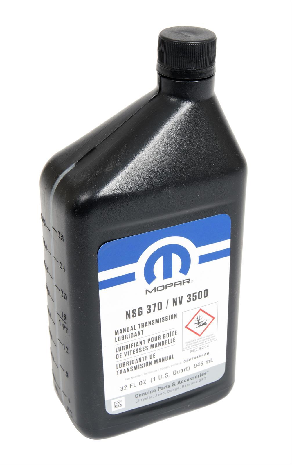 Mopar Replacement Manual Transmission Lubricants 04874464ab