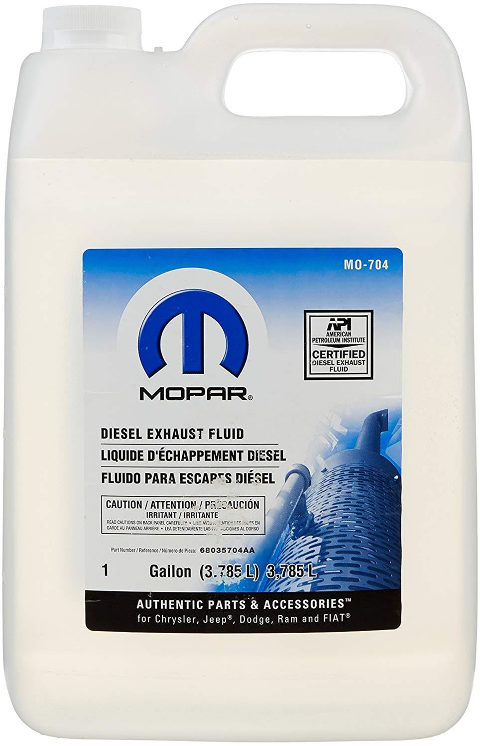 Diesel Exhaust Fluid >> Mopar Replacement Def Diesel Exhaust Fluid 68056278ac