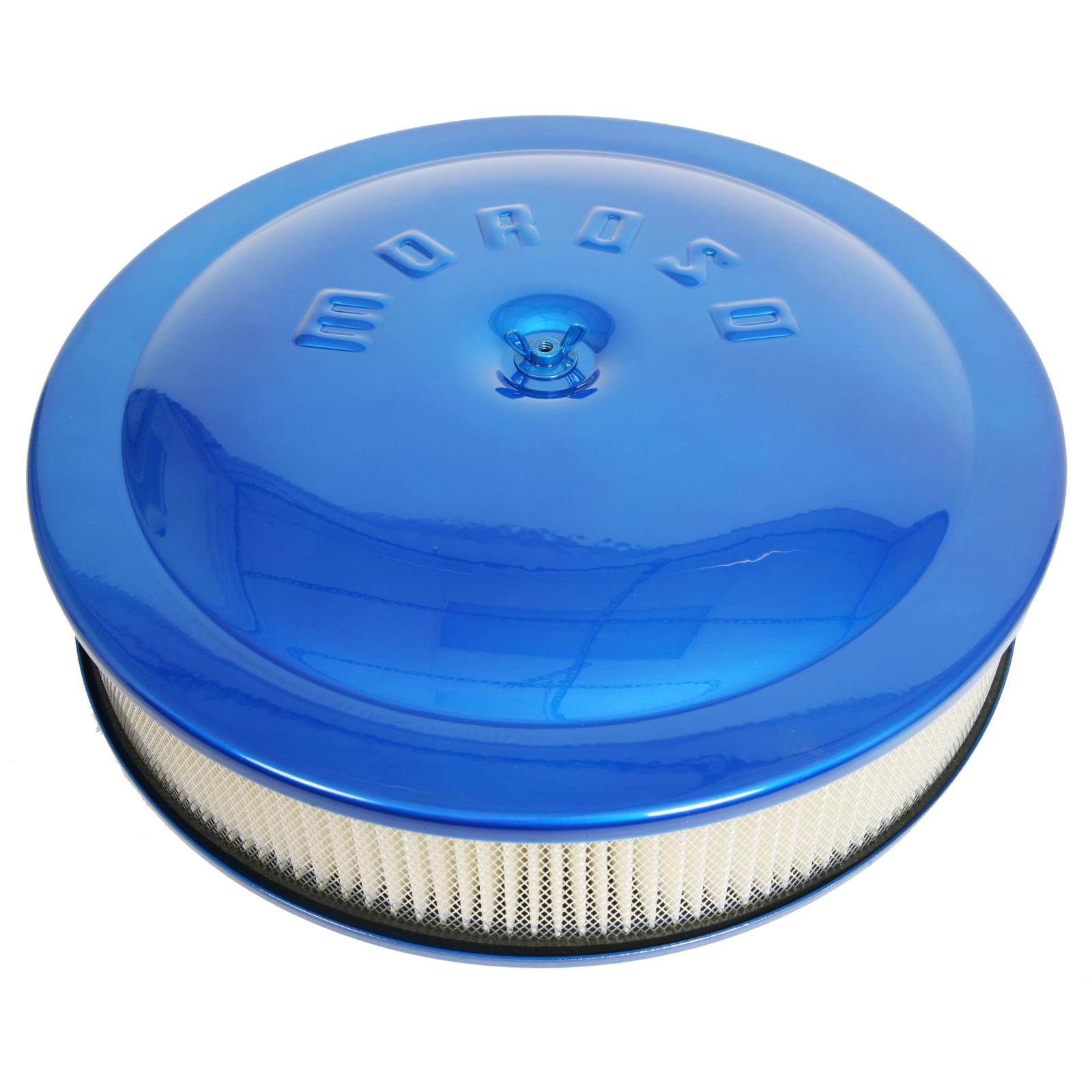 Racing Air Cleaners : Moroso low profile racing air cleaner quot dia round white