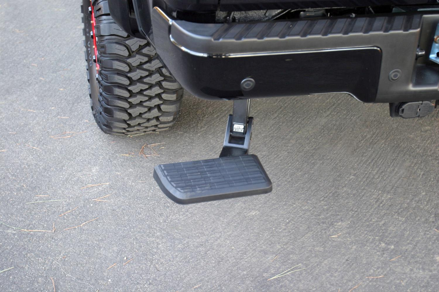 AMP Research Bumper Mounted Bed Step for Ford F-150-75302-01A