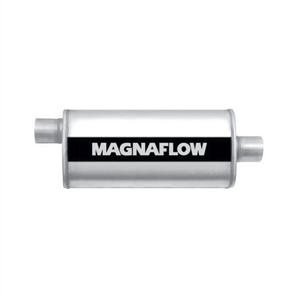 "Magnaflow 5x8 24/"" Oval Straight Through Muffler 2.5/"" In//Out Center//Offset 12286"