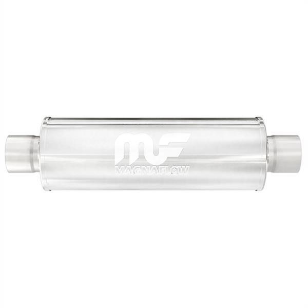 "Magnaflow 14156 Race Performance Muffler 4/"" Round 6/"" Body 2.5/"" Center//Center"