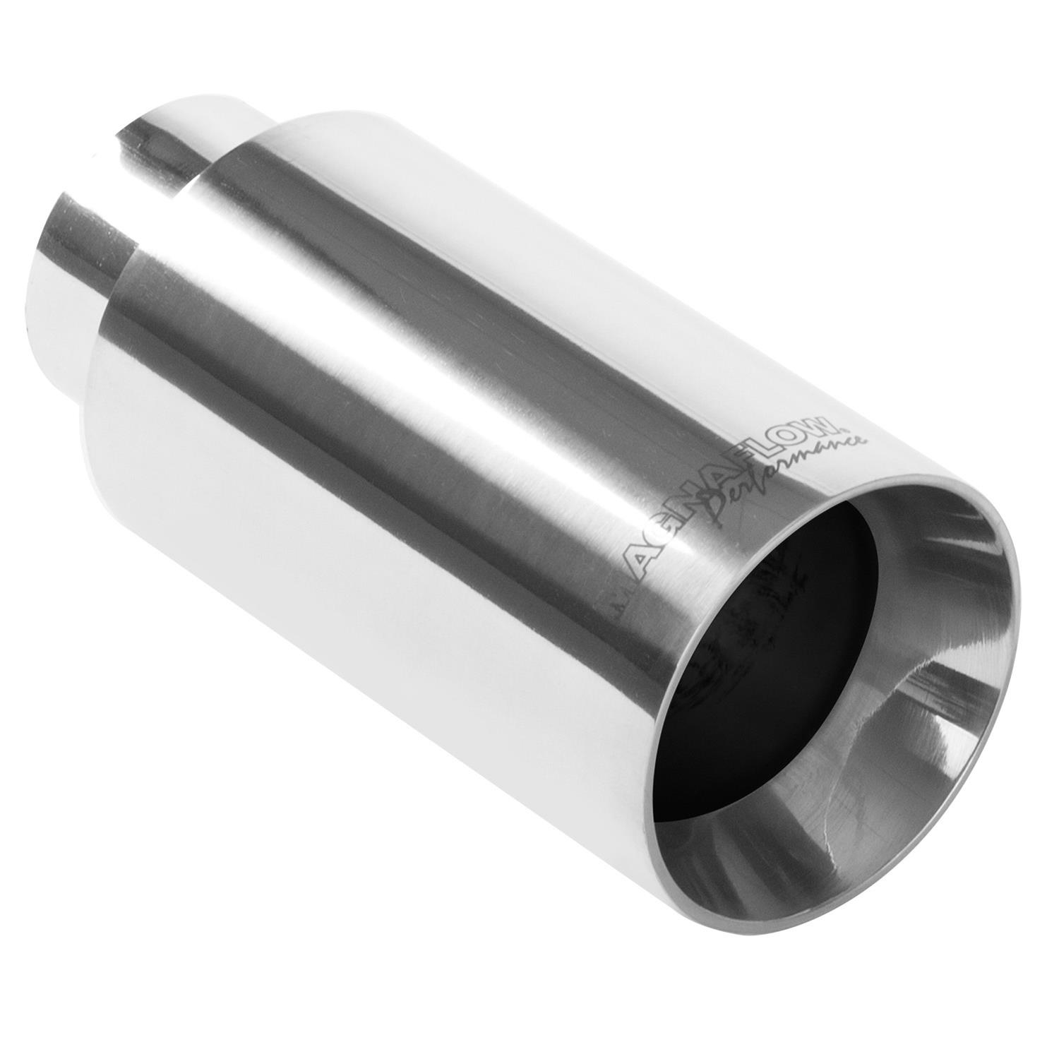 NEW MAGNAFLOW EXHAUST Stainless Double Wall Tip Polished 2.25in Inlet//3in Outlet