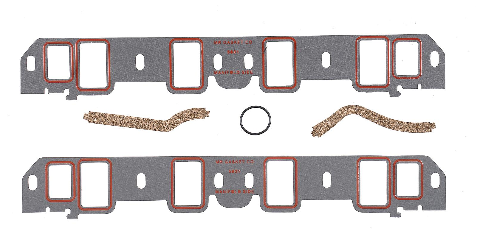 Mr. Gasket Ultra-Seal Intake Manifold Gaskets 5831 - Free Shipping on  Orders Over $99 at Summit Racing