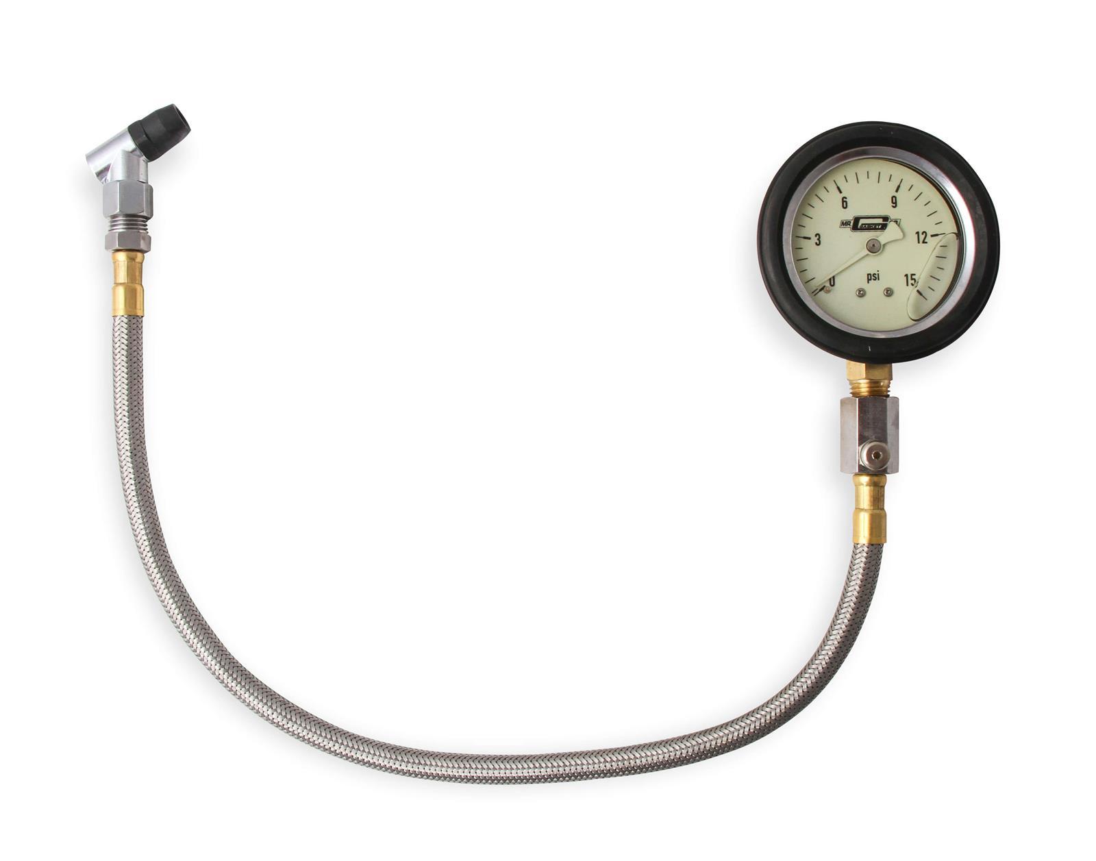 Summit Racing 0-60 PSI tire gauge with bleed valve