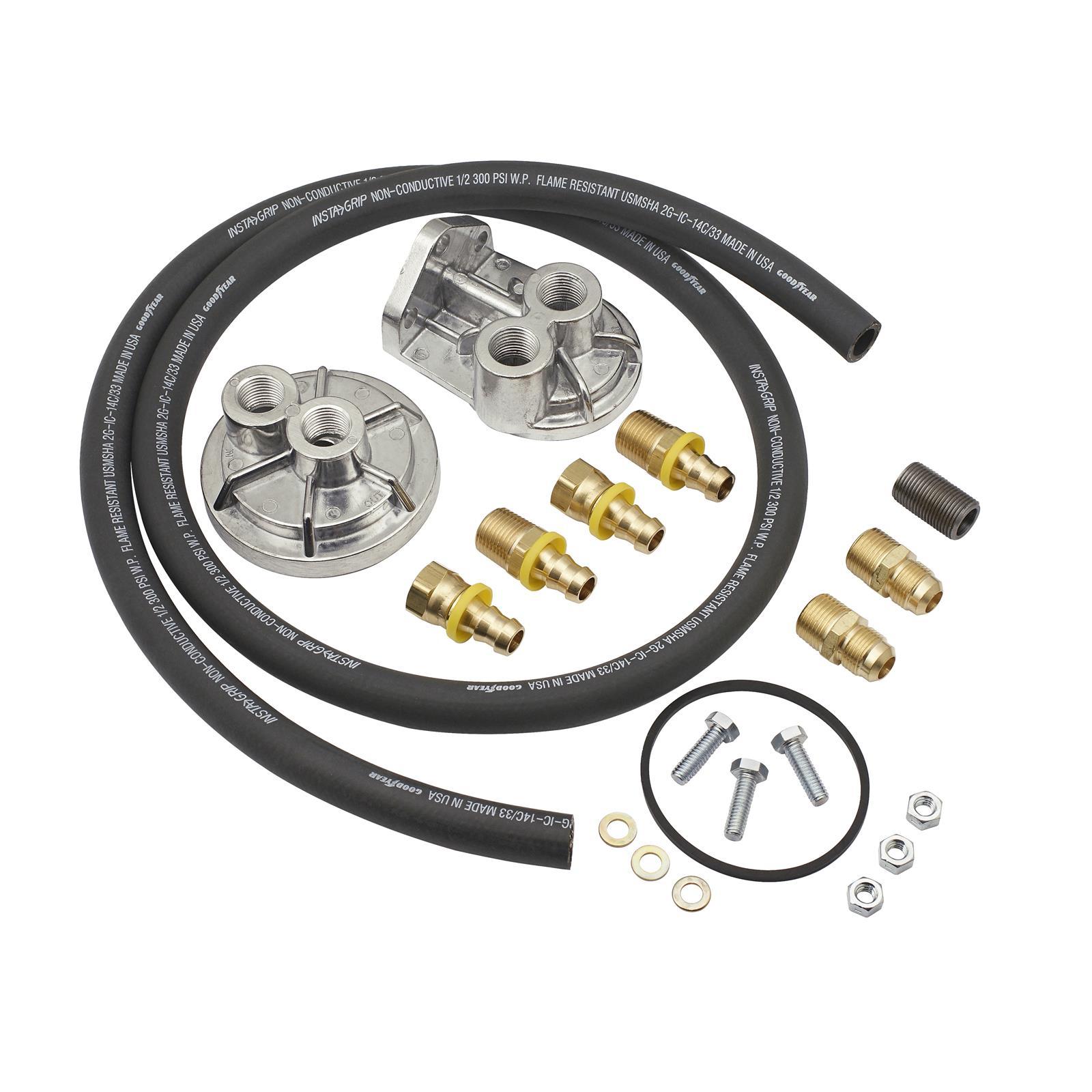 Mr Gasket Remote Oil Filter Relocation Kits 7680 Free Shipping On Fuel Orders Over 49 At Summit Racing