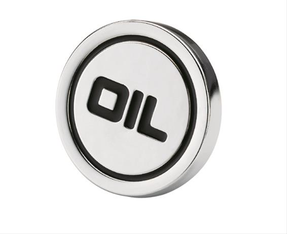 """Chrome Steel Push-In Style Oil Logo Cap Plug w// Rubber Seal 1-1//4/"""" Valve Covers"""