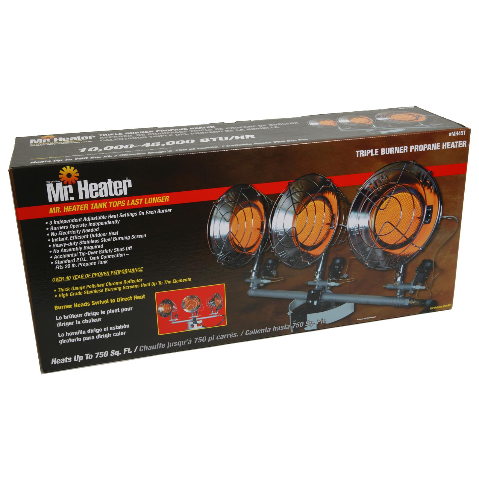 Mr heater heater original tank top propane radiant 8000 for Best propane heating systems
