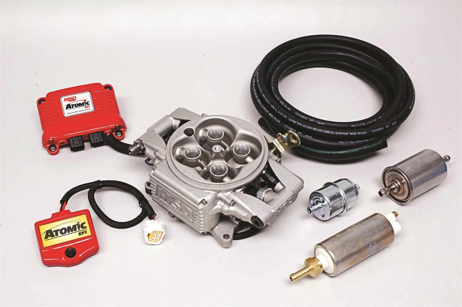 msd 2900 atomic efi fuel injection kit w  electric fuel