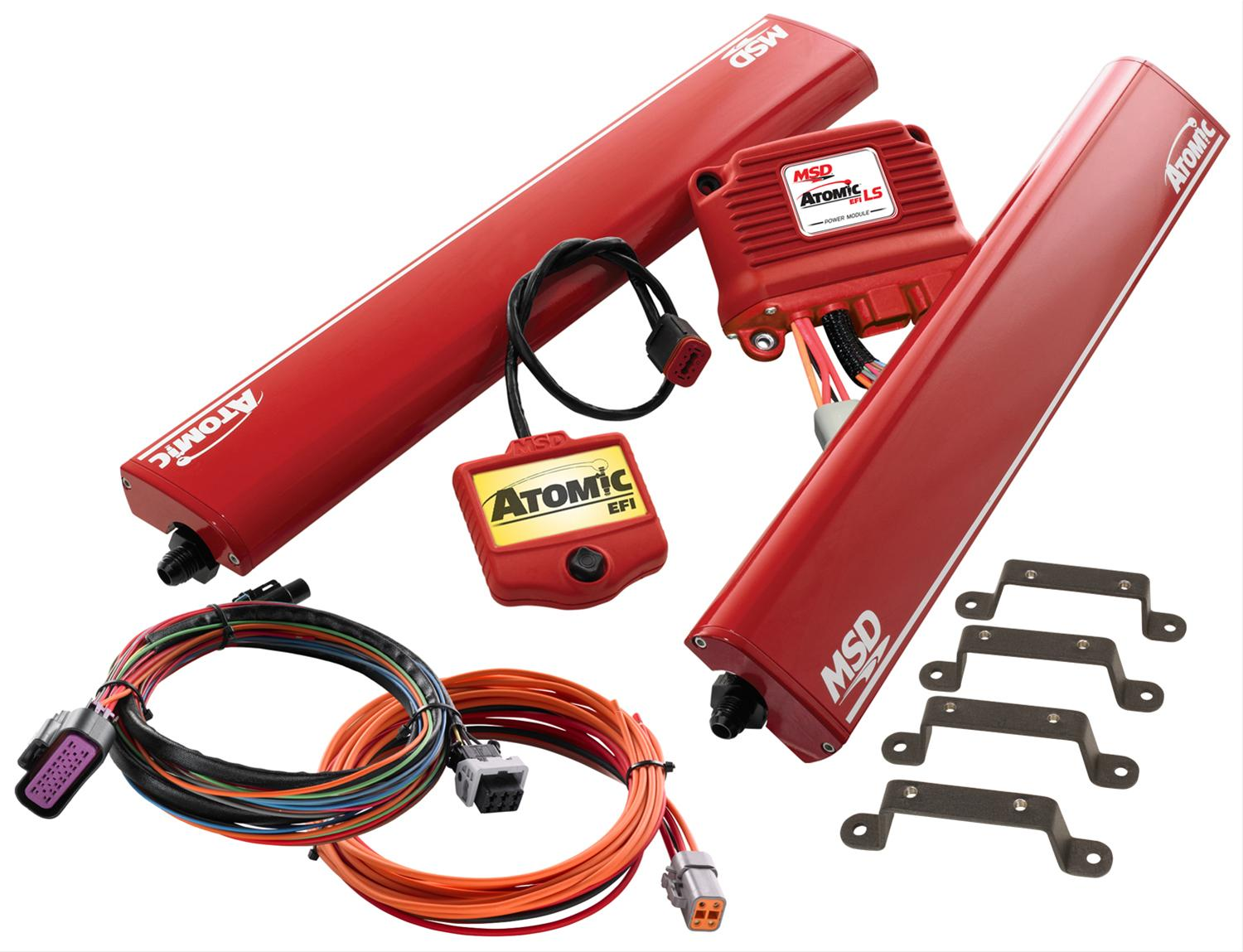 Msd Atomic Ls Efi Fuel Injection Systems 2957 Free Shipping On Engine Computer Wiring Harness Orders Over 99 At Summit Racing