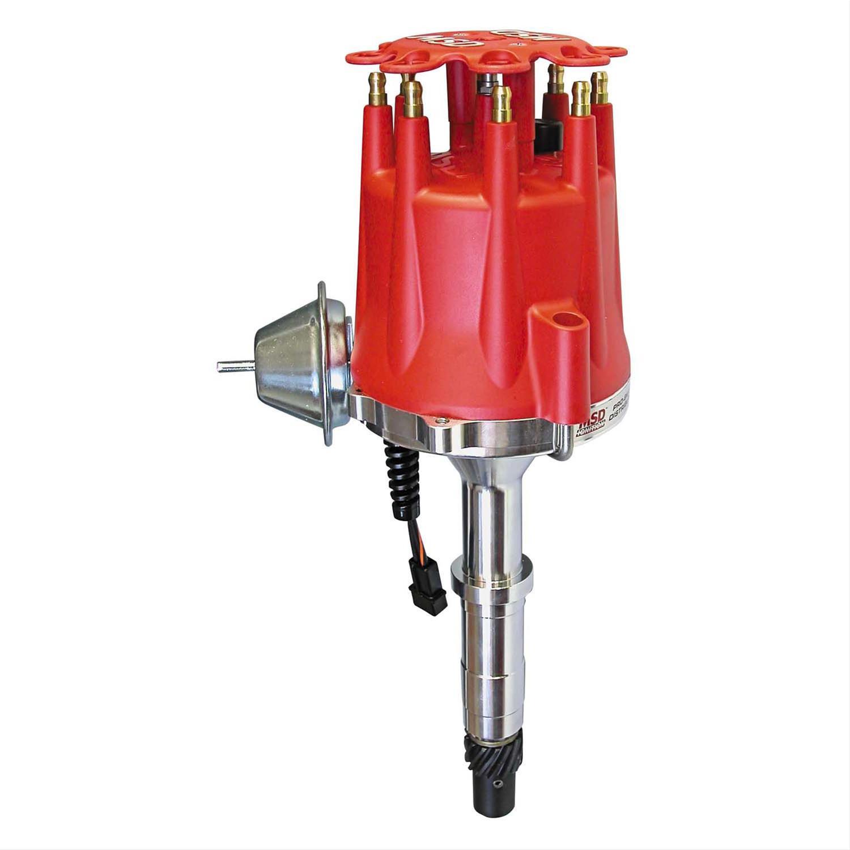 BBC MSD Distributor 83613; Pro Billet Street Vacuum Advance for Chevy SBC