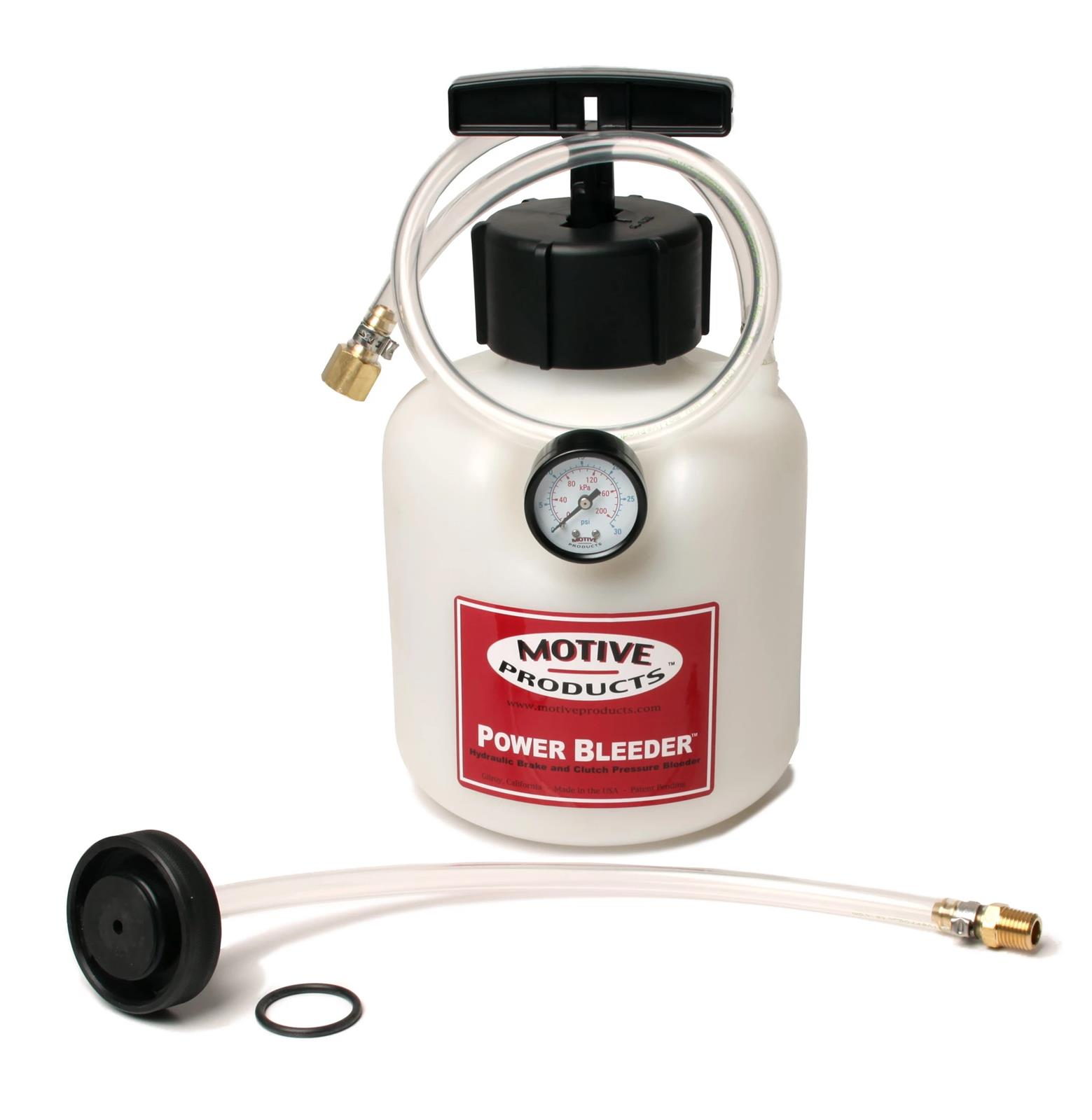 Motive Products Power Brake Bleeder 4 qt Capacity GM Ford Universal Attachments