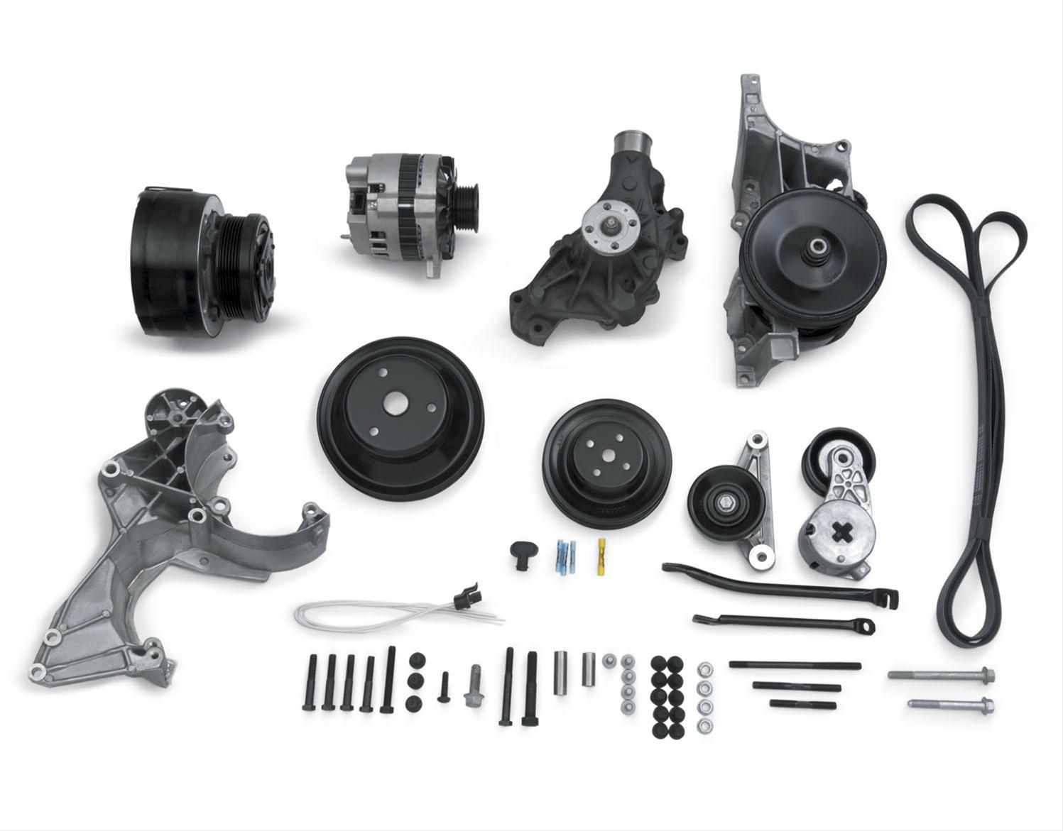 Chevrolet Performance Pulley Kit Serpentine Steel Black