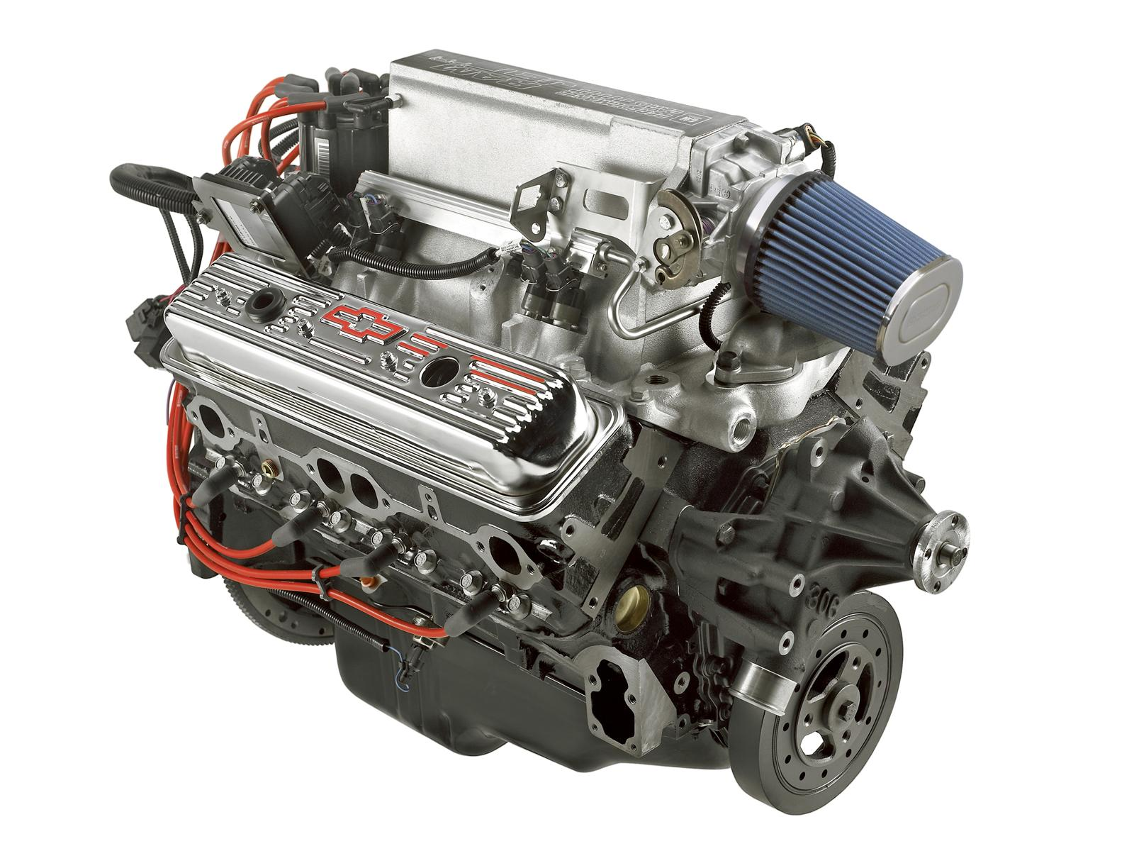 Chevrolet Performance Ram Jet 350 C.I.D. 351 HP Long Block Crate Engines  12499120 - Free Shipping on Orders Over $49 at Summit Racing