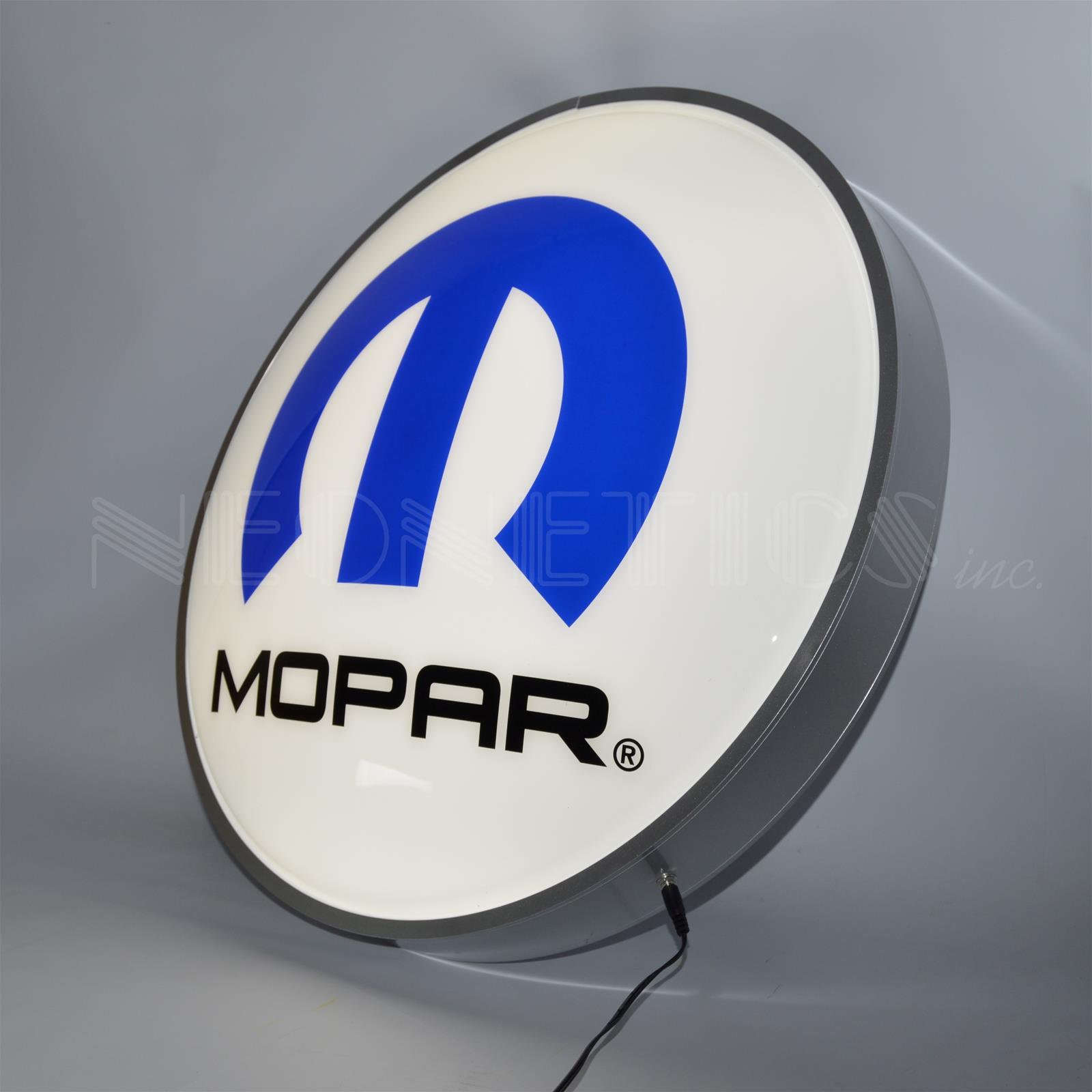Mopar Logo LED Backlit Sign 7MPROM