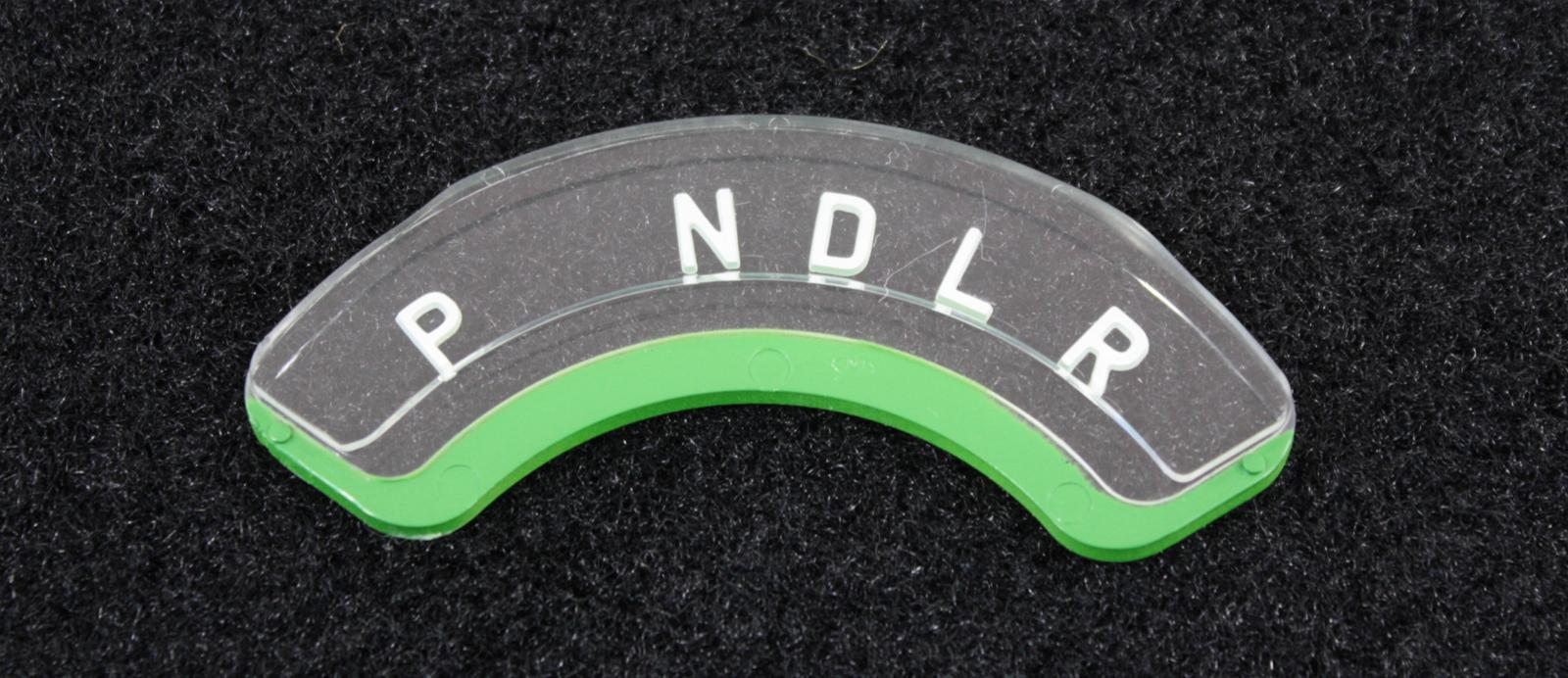 Trim Parts Dash Gear Shift Indicator Lens 1052