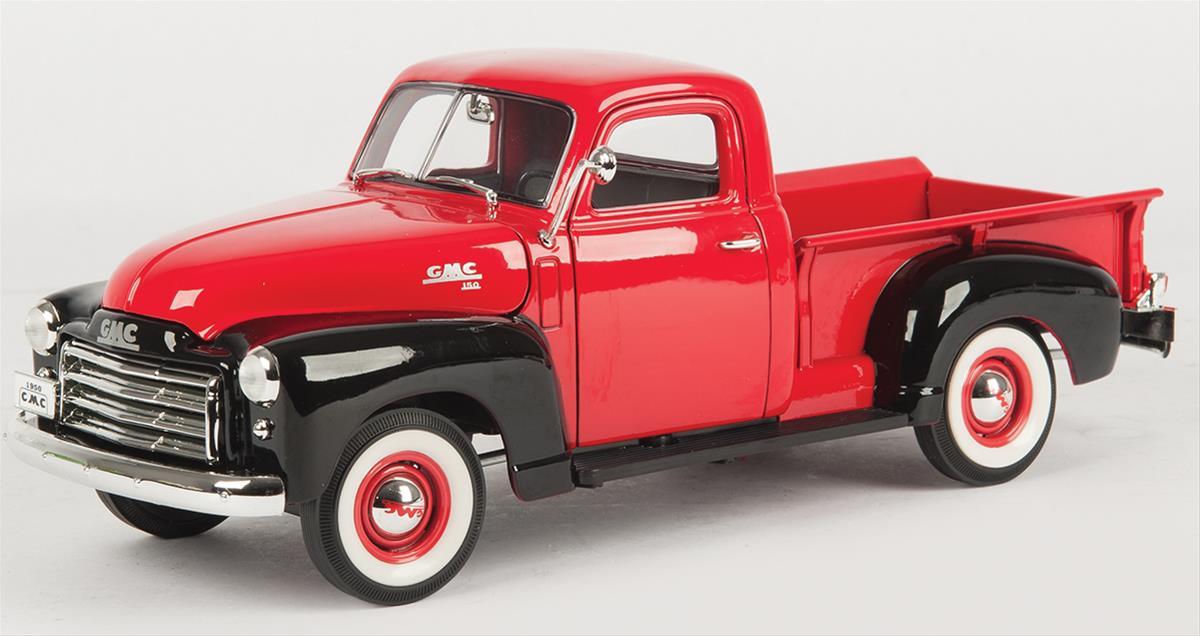 1950 GMC Pickup Truck Dark Green and Black 1//18 Diecast Model Car by Road Signature 92648