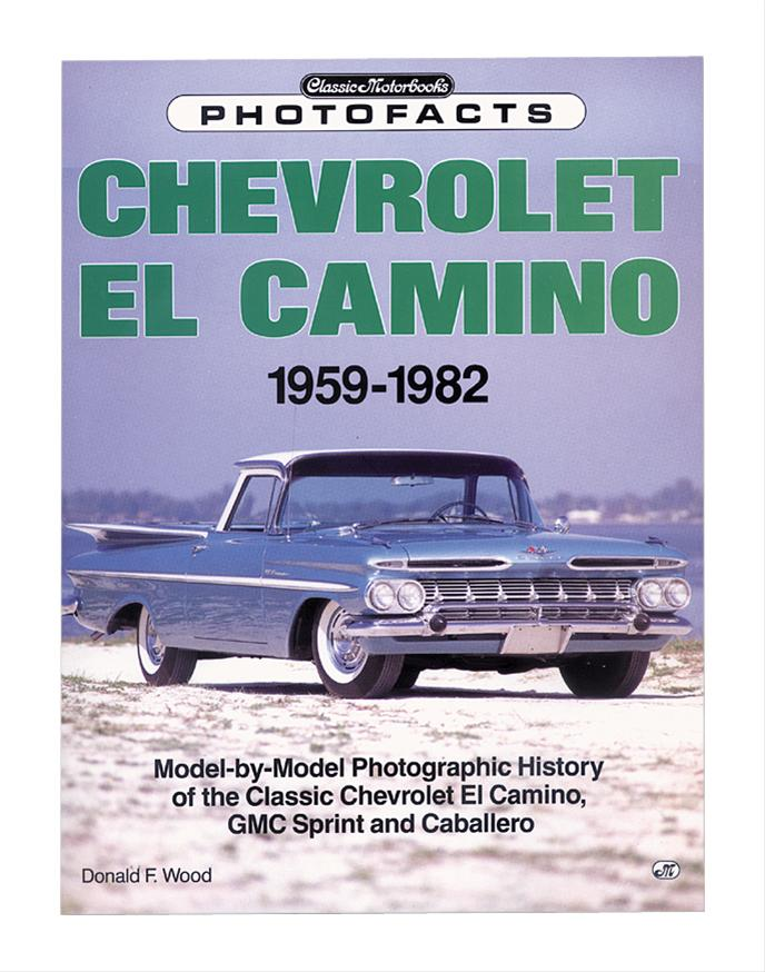 original parts group chevrolet el camino 1959 82 photofacts books 117372n free shipping on. Black Bedroom Furniture Sets. Home Design Ideas