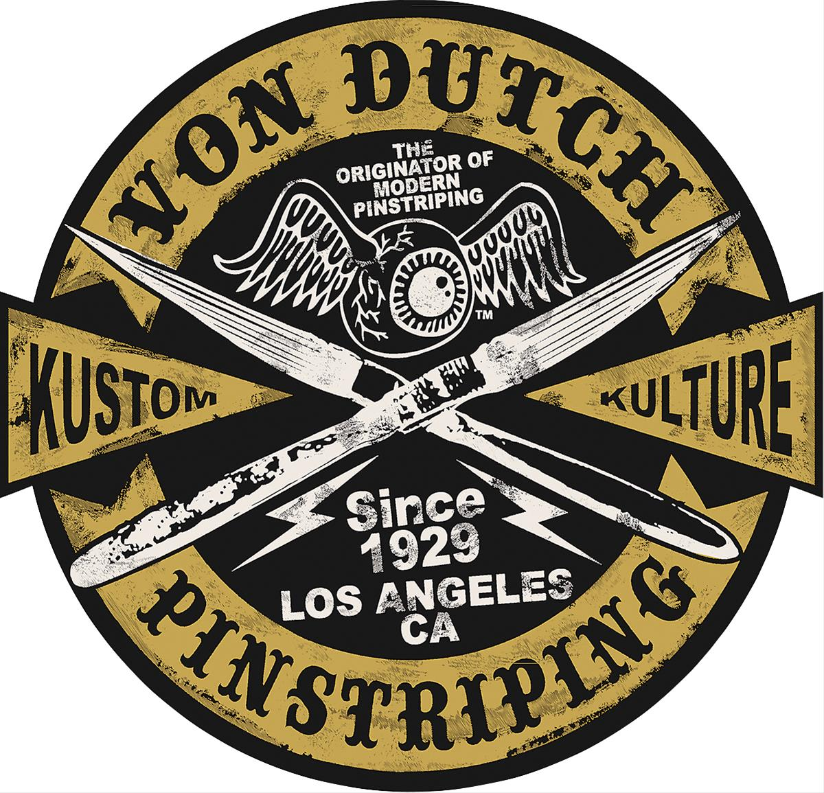 Von Dutch Kustom Kulture Pinstriping Steel Sign 90166696