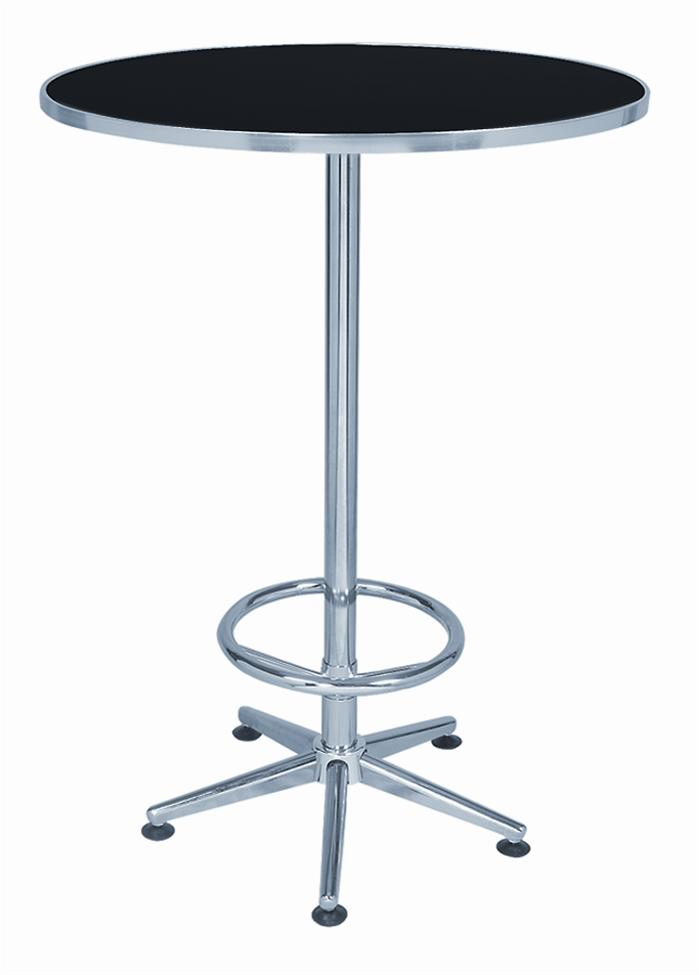 Round black pub table 6004 free shipping on orders over for Round table 99 rosenheim