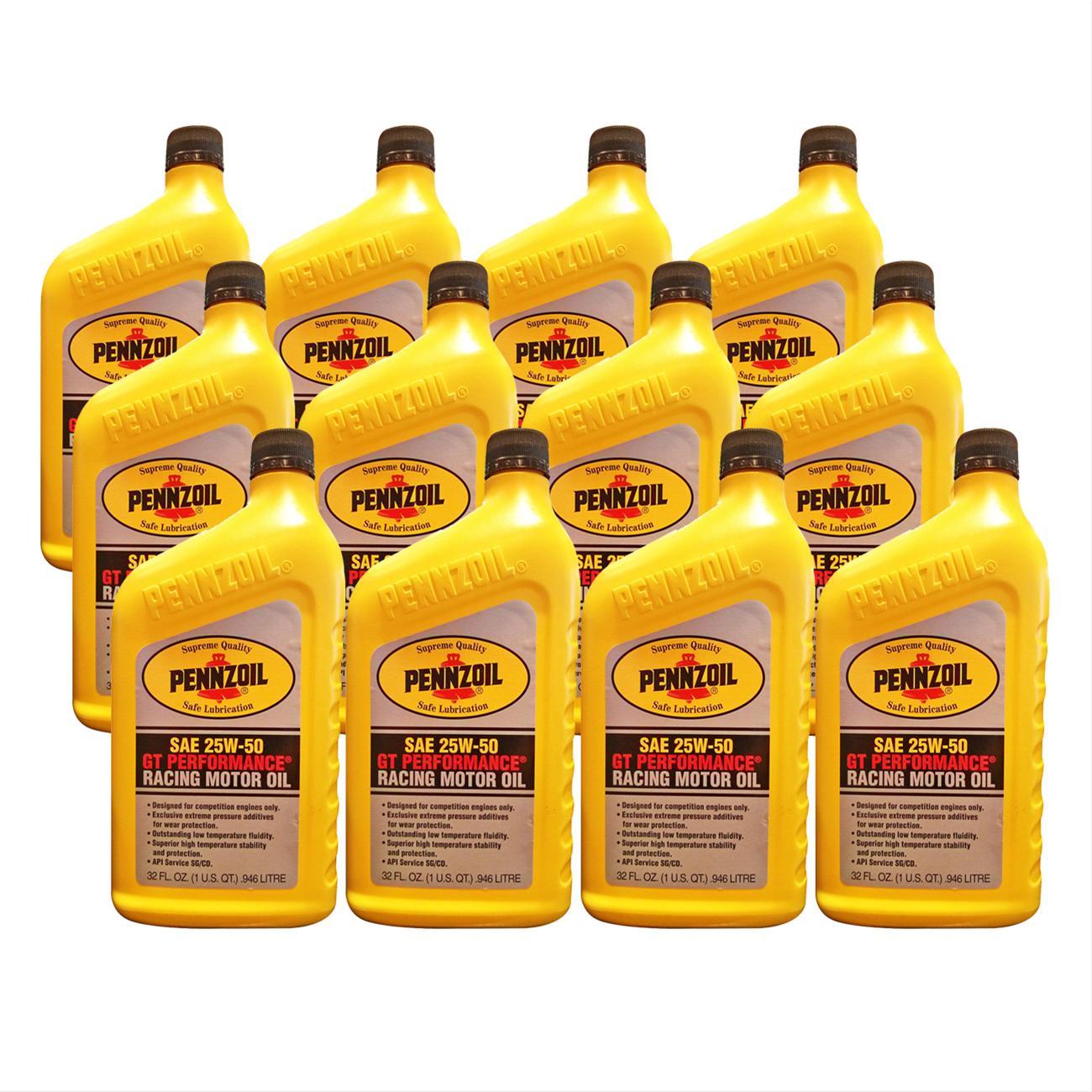 Pennzoil Motor Oil Pennzoil Conventional 25w50 1 Quart Set