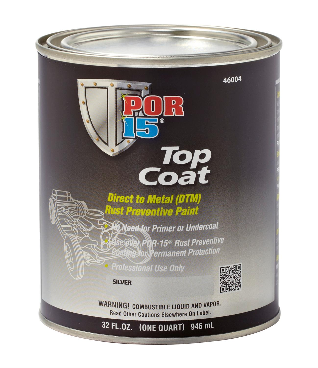 Top Coat Paint >> Por 15 Top Coat Paint 45901 Free Shipping On Orders Over 99 At
