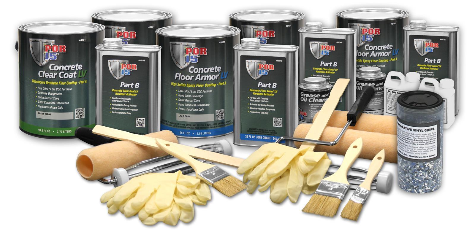 POR-15 Floor Armor® Deluxe Water-Based Concrete Coating Kits 48169
