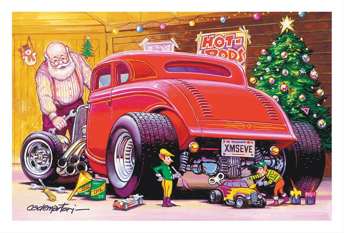 Hotrod under the Tree Christmas Card Set—Set of 10 CC709 - Free ...