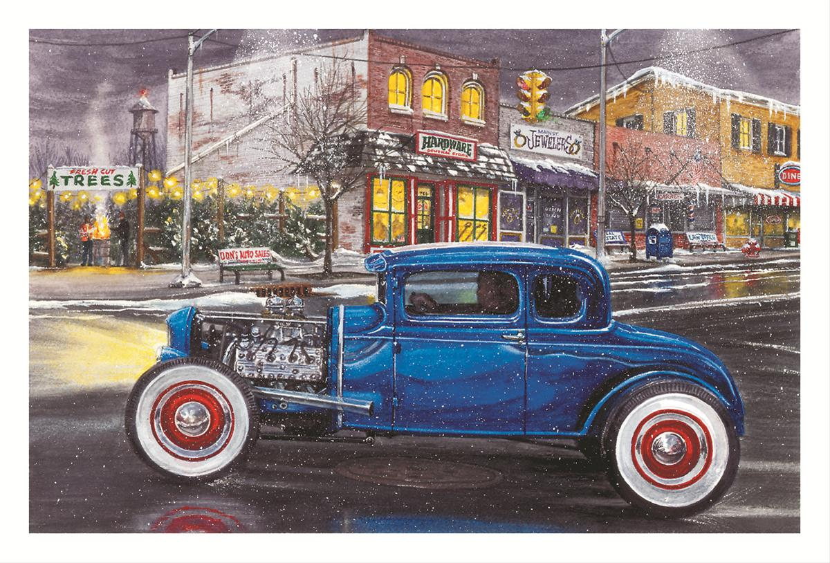 Hotrod in Town Christmas Cards—Set of 10 X883 - Free Shipping on ...