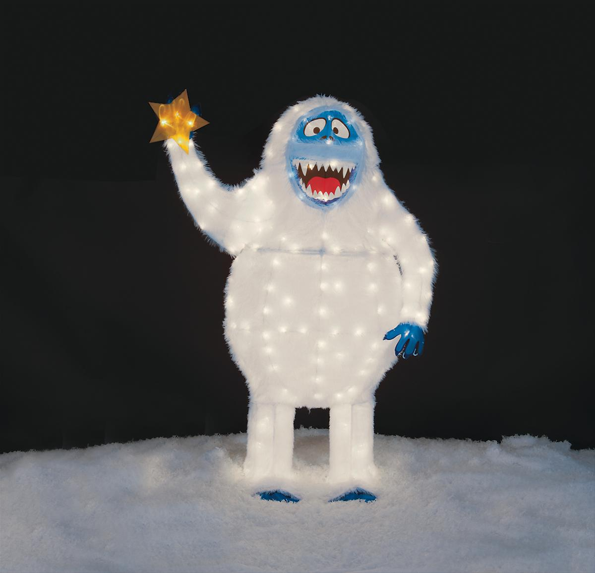 56 bumble tinsel light lawn decoration 50545 free for Abominable snowman outdoor christmas decoration