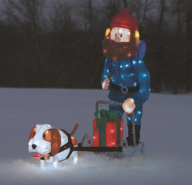 yukon cornelius dog sled lighted display 60515 free shipping on