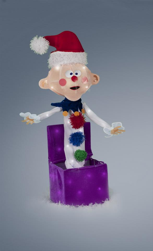 Charlie In The Box Tinsel Light Display 60531 Free
