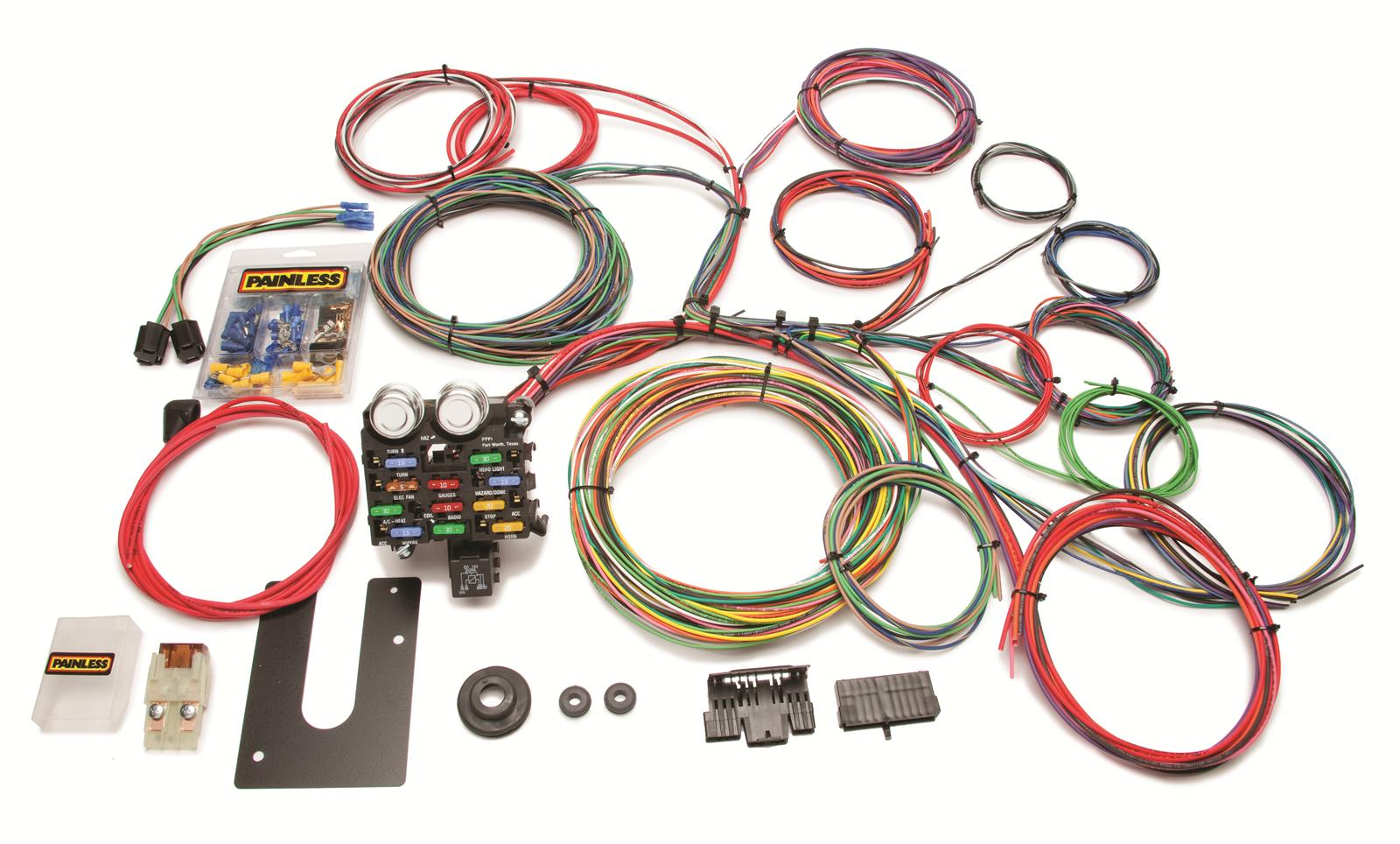 painless performance 21 circuit universal harnesses 10102 free rh summitracing com Painless Wiring for Old Cars and Trucks Painless GM Column Wiring Diagram