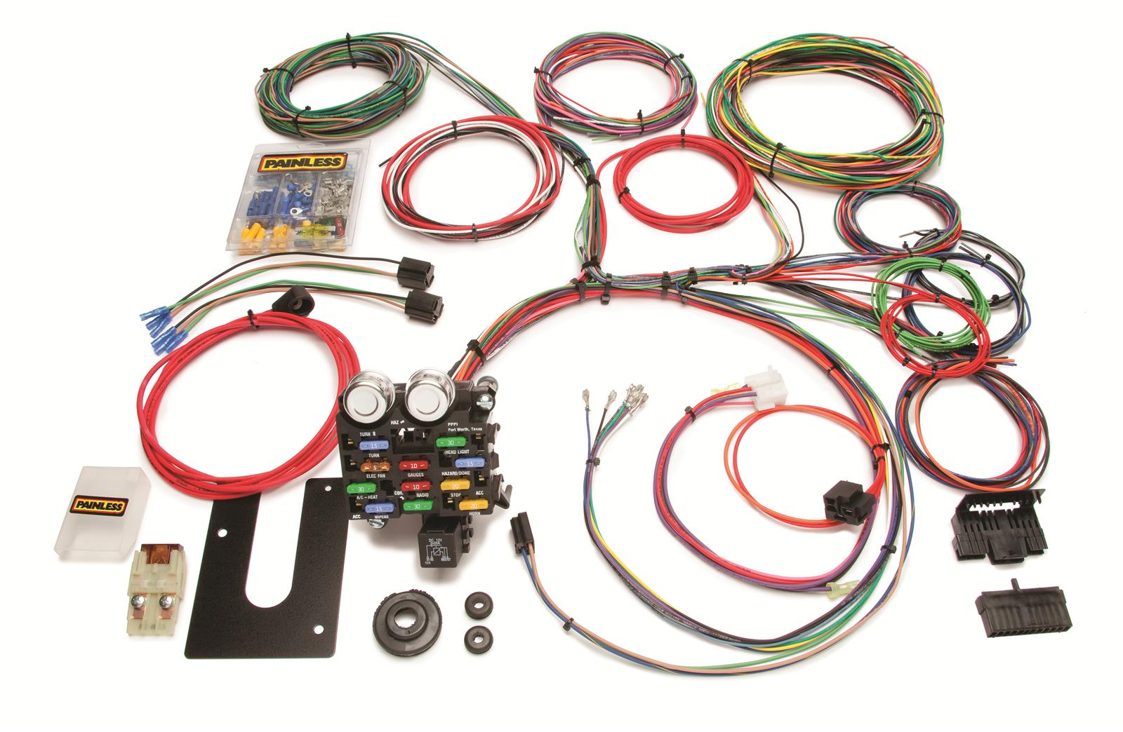 painless performance 21-circuit universal truck harnesses 10103 - free  shipping on orders over $99 at summit racing
